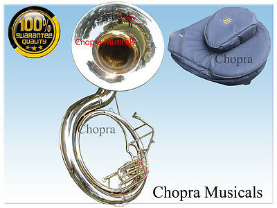 "Sousaphone 25 Bell 3Valve ""CHOPRA"" Shinning Brass Carring Bag n M/P Free Ship"