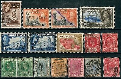 British Colonies GOLD COAST OLD STAMPS - USED