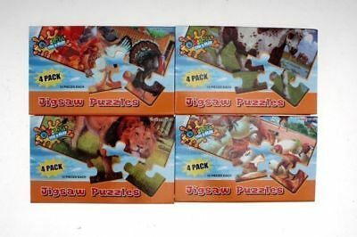 12 x Animal Puzzles kids childrens 4 pack in box 4 asstd Bulk wholesale lot