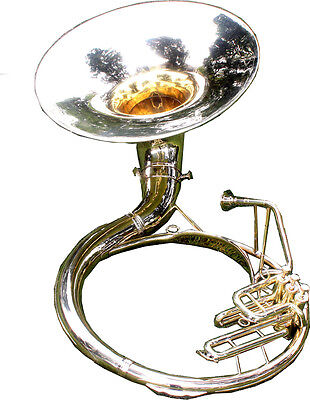 "Qlty Sousaphone Shinning Brass 20"" Bell Bb ""Chopra"" 3V  BAG n M/PIECE 140316"