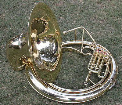 Sousaphone 25 Bell 3Valve Lagest Size  Shinning Brass Carring Bag n M/Piece1301