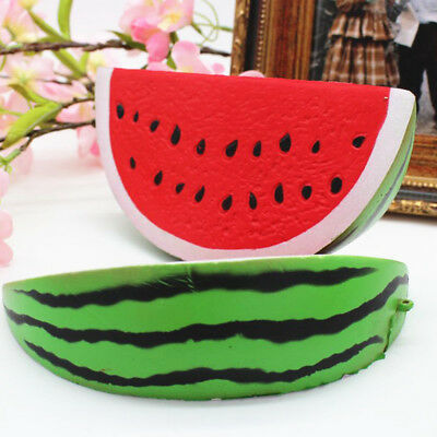 1/2 PC Soft Watermelon Stress Slow Rising Squishies Squeeze Relief Scented Toy