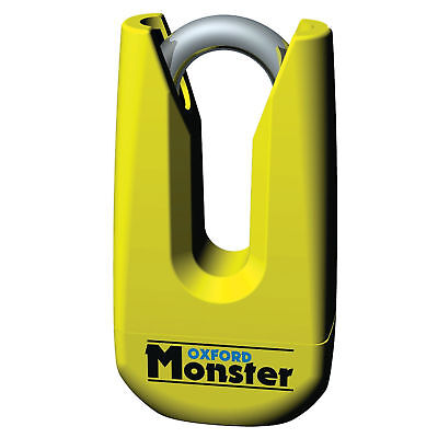 New Oxford Motorcycle Bike Monster Ultra Strong Disc Lock W/ Pouch 11mm Yellow