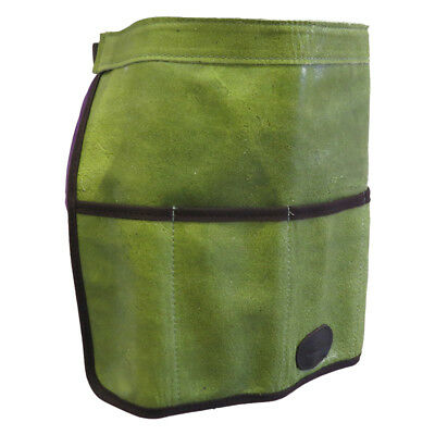 Bradleys Traditional Green Leather Garden Tool Roll Apron.  SPECIAL OFFER