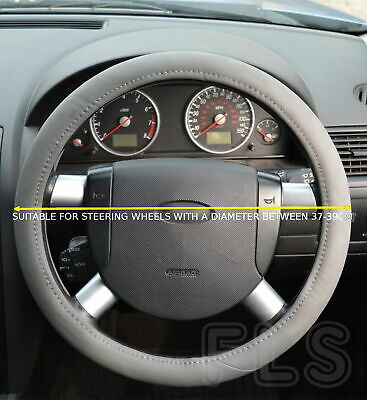 Universal Faux Leather Grey Steering Wheel Cover Jd001-Gry  Tta