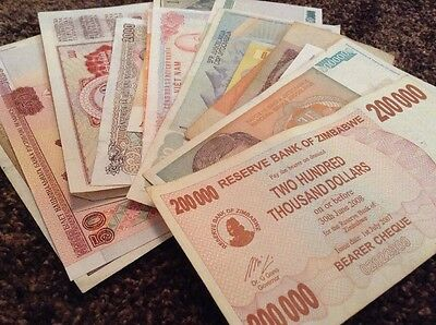World Banknote Collection. 25 X Banknote Bulk Lot. Every Note Different