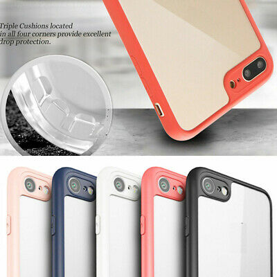 For iPhone 6 7 8 X Series Slim Crystal Clear TPU Bumper Back Case Cover NEW