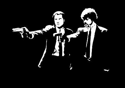 Pulp Fiction Poster Wall Art Print Black & White Card or Canvas