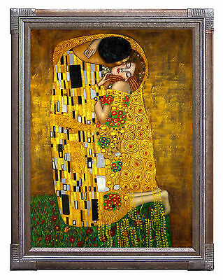 Gustav Klimt The Kiss Fine Art Poster Print in Canvas or Paper Card