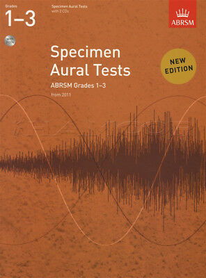 Specimen Aural Tests from 2011 Grades 1-3 Sheet Music Book with 2 CDs ABRSM