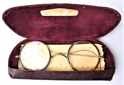 NO RESERVE c1920 Original Faux Tortoiseshell Spectacles Glasses Vintage