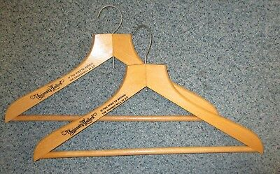 Vintage University Tailors wooden coat hanger- 2 Shillings charge if retained!
