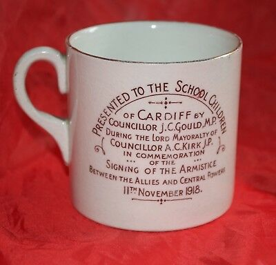 World War 1 Cardiff School Childrens' Armistice Coffee Can