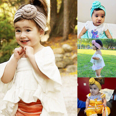 Newborn Baby Kids Girls Infant Tie Knot Headband Elastic Headwear Turban Knot