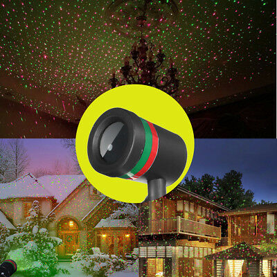 R&G LED Star Light Laser Projector Christmas Outdoor Party Garden Landscape Lamp