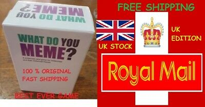 What Do You Meme? UK Core Game Basic Main Game Adults Funny Party Game Free P&P