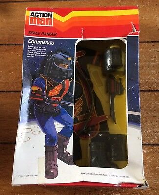 BOXED!! Vintage Action Man Space Ranger Commando Set - Palitoy - Unopened