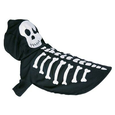 Halloween Black Skeleton Small Pet Fancy Dress Costume Outfit-One Size