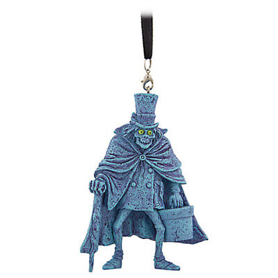 NEW! Disney Parks The Haunted Mansion HATBOX GHOST FIGURAL Christmas Ornament
