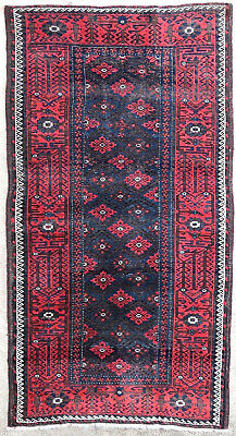 Tapis ancien rug oriental orient tribal ethnique Persan Perse Baluch 1880