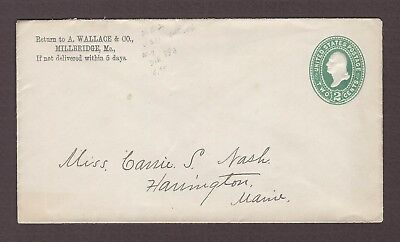mjstampshobby 1886 US Vintage Cover Used (Lot4862)
