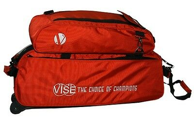 Vise 3 Ball Tote Bowling Bag with shoe pocket RED