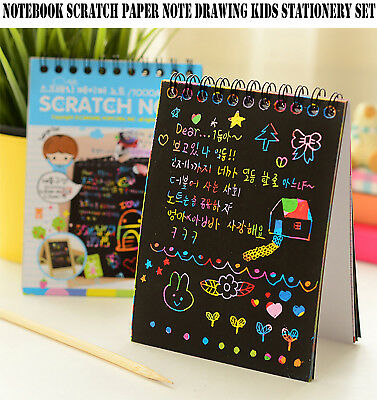 Notebook Scratch Paper Note Drawing Educational Toys Kids Stationery Set| LiFaFa