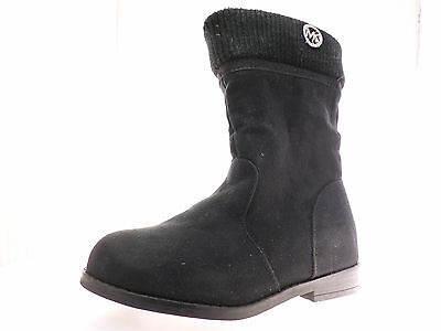 Michael Kors Lil Athena Girls Boots Black Suede Knit Tops Size 11 M