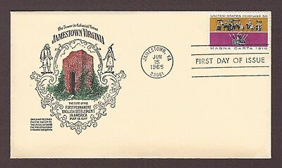 mjstampshobby 1965 US Tower In Colonial Time Jamestown Virginia FDC MNH (Lot4933