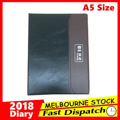 New 2018 A5 Diary Week to View Opening WTV Spiral Personal Appointment Organiser