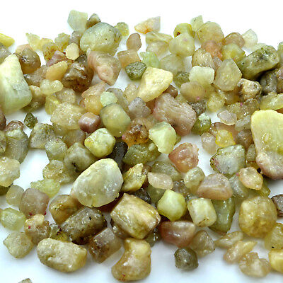 Natural Uncut Eartmined Ceylon Yellow Sapphire Rough Raw Minerals Specimens Lot