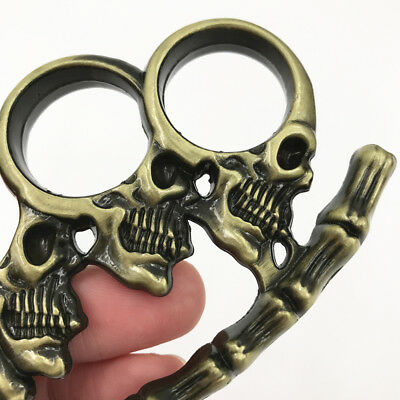 Multifunction Outdoor camping Skeleton head Male and female Keychain EDC Pendant