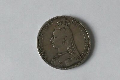 Victoria 1889 Jubilee Head Silver Crown - A good collectable coin