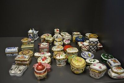 Massive selection of Del Prado Trinket Boxes, Pill box hand painted Porcelain