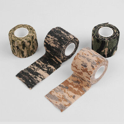 5CM*4.5M Camo Hunting Waterproof Camping Camouflage Stealth Duct Tape Wrap