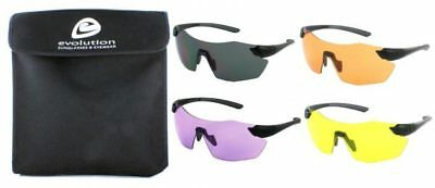 Evolution Chameleon Set Of 4 Individual Shooting Glasses  Clay Pigeon Archery