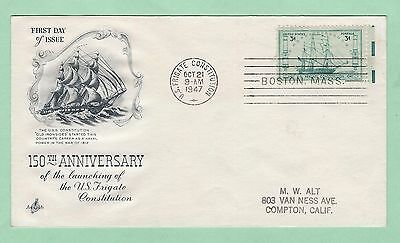 mjstampshobby 1947 US 150 Anniv of Lauching FDC Used (Lot2383)