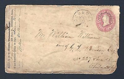 mjstampshobby 1857 US Cover Vintage Antique RARE Nice (Lot2287)