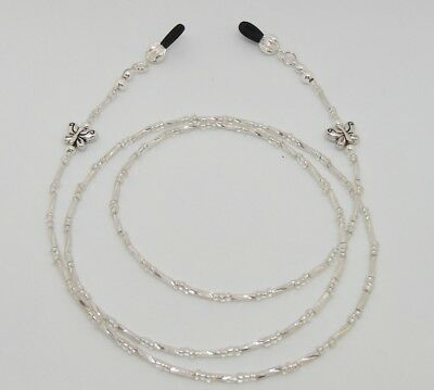 Beaded Silver Coloured Spectacle Glasses Eyeglass Chain Lanyard