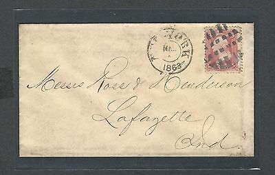 mjstampshobby 1863 US Cover VF Cond (Lot1419)