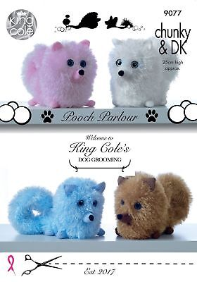 Pooch Parlour Dog Toy Knitting Pattern  Using Tinsel Chunky Yarn  King Cole 9077