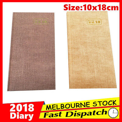 2018 Slim Diary Week to View Opening WTV Spiral Personal Appointment Organiser
