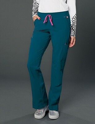 Smitten Drawstring Scrub Pants #S201002 Rock Goddess Carribean *NEW*~Free Ship~