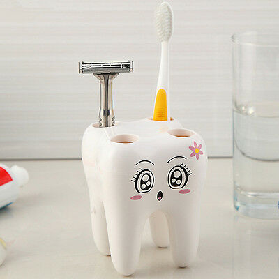 Cartoon Toothbrush Holder,Teeth Style 4 Hole Stand Tooth Brush Shelf  Sets FG