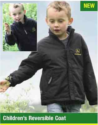 John Deere Dickies Childs Reversible Jacket Coat available in sizes 5-10 years