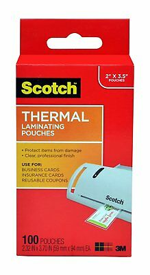 Scotch Thermal Laminating Pouches, 2.32 x 3.70-Inches, Business Card Size,