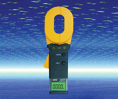 Earth Ground Resistance Clamp Ohmmeter Tester 0-1000 ohm Data Storage 6412+