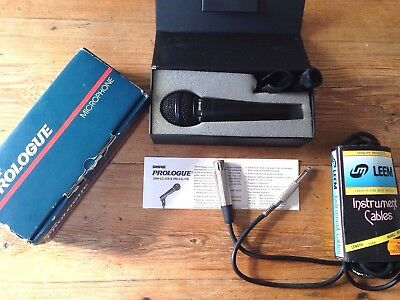 Shure Prologue 24L LC Microphone  Low Z cable  Lem  model MIC 20 Micro Boite