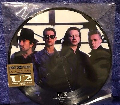 "U2 Red Hill Mining Town 2017 Remix 12"" Picture disc 30th Joshua Tree RSD 2017"
