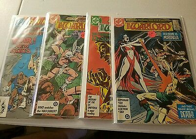 WARLORD Lot of 4 DC Comic Books